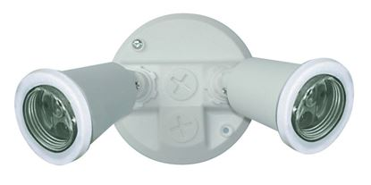 Picture of HOUSEWATCH Twin PVC Lamp Holder Pack E27. IP44. Wall/Ceiling