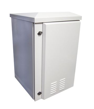 Picture of DYNAMIX 12RU Vented Outdoor Wall Mount Cabinet. Ext Dims 611x673x685