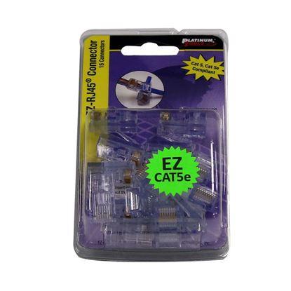 Picture of PLATINUM TOOLS Cat5e EZ-RJ45 Plug. Easy install RJ45 plug for Cat5e