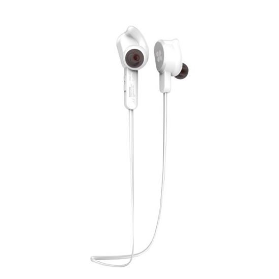 Picture of PROMATE Wireless Secure-Fit Stereo Magnetic Earbuds. Behind ear for