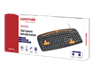 Picture of PROMATE Professional Ergonomic Wired Keyboard. Full sized keyboard