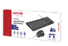 Picture of PROMATE Ergonomic Wired USB Mouse & Keyboard Combo. Advanced tactile