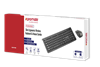 Picture of PROMATE Slim Ergonomic Wireless Keyboard & Mouse Combo. 2.4GHz