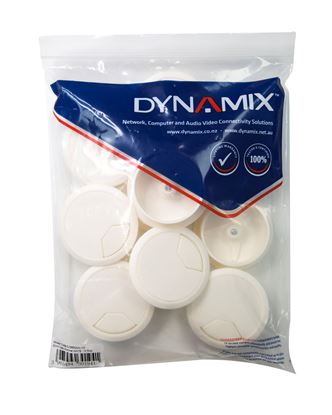 Picture of DYNAMIX 60mm Desk Grommet IVORY - 10 Pack
