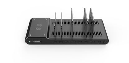 Picture of UNITEK 96W 8-Port USB Smart Charging Station & Wireless Fast