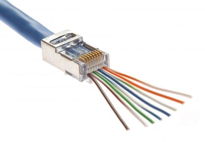 Picture of PLATINUM TOOLS Cat5e/6 Shielded EZ-RJ45 Plug with Internal Ground.