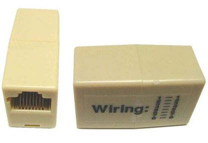 Picture of DYNAMIX Voice Rated RJ45 8C Joiner, 2-Way (2x RJ45 Sockets)