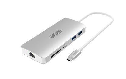 Picture of UNITEK USB 3.1 USB-C Aluminium Multi-Port Hub with Power Delivery.
