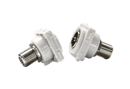 Picture of AMDEX PAL to F Connector insert for AMDEX Face Plates. AMDEX style.