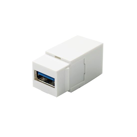 Picture of DYNAMIX USB 3.0 Keystone Jack USB-A Female to Female Connectors.