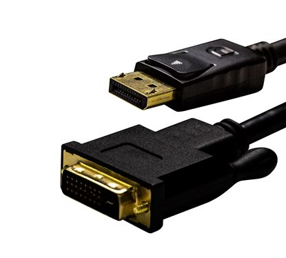 Picture of DYNAMIX 1.5M DisplayPort Source to DVI-D Monitor Male Active
