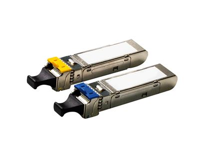 Picture of CARELINK 100Mb LC Single mode WDM Industrial SFP Module. 20km, DDM.