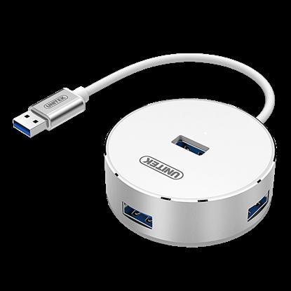 Picture of UNITEK USB 3.0 4-Port Hub with Apple Style Aluminium Housing. Data