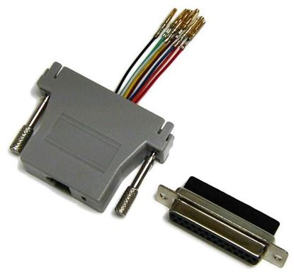 Picture of DYNAMIX DB25 Female to RJ45 Adaptor (8 Wire). Colour Black.