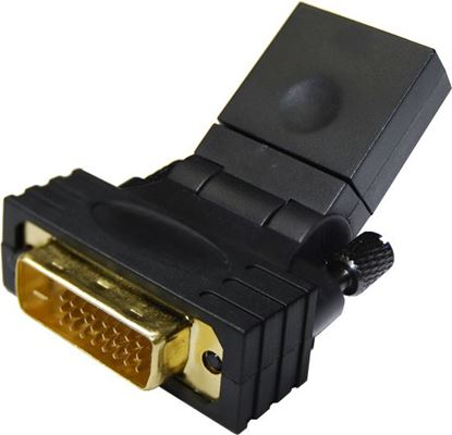 Picture of DYNAMIX HDMI Female to DVI-D (24+1) Male Swivel Adapter