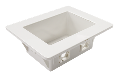 Picture of DYNAMIX Recessed Wall Box with 2x AMDEX style outlets and 1x GPO