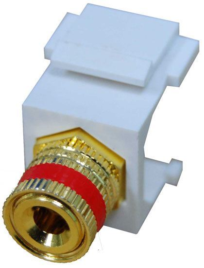 Picture of DYNAMIX Red Speaker Binding Post, Keystone Adapter. Gold Plated