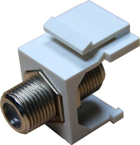 Picture of DYNAMIX F to F Keystone Adapter Female Connectors on the Front and