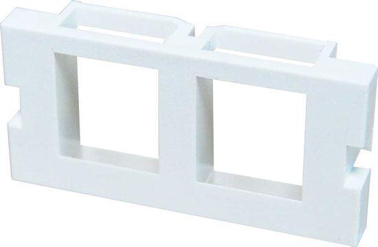 Picture of DYNAMIX 2 Port Keystone Bezel for AVP-3UFP Plate