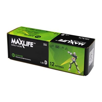Picture of MAXLIFE D Alkaline Battery 12 Batteries Per  Pack