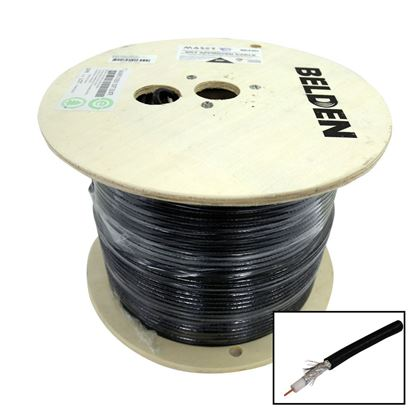 Picture of 305m Roll RG6 Shielded Cable Black. 75ohm. 18AWG solid Core