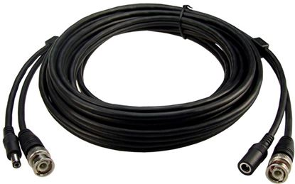 Picture of DYNAMIX 30m BNC Male to Male with 2.1mm Power Cable Male/Female.
