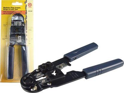 Picture of HANLONG Modular Metal Crimping Tool. Crimps 8P/8C RJ45 Plugs.