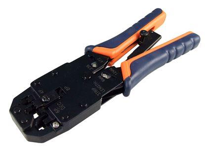 Picture of HANLONG RJ45/RJ12/RJ11R RJ14/DEC Modular Crimping Tool.