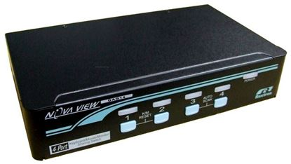 Picture of REXTRON 1-4 Automatic DVI USB KVM Switch.