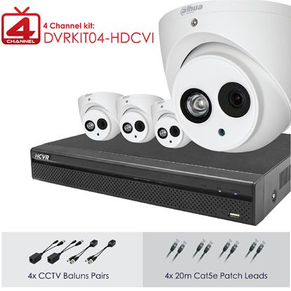 Picture of DAHUA Full HD 4 Channel Digital Surveillance Kit.
