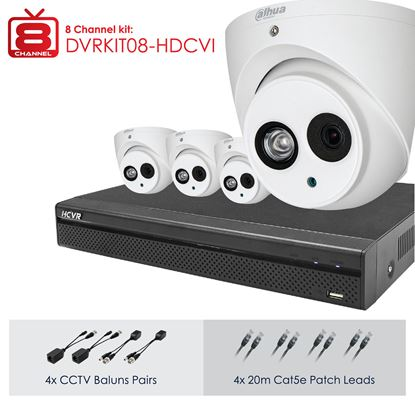 Picture of DAHUA Full HD 8 Channel Digital Surveillance Kit.