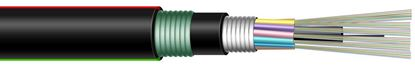 Picture of DYNAMIX 1km OM3 6 Core Multimode Fibre Cable Roll. Outdoor Armoured