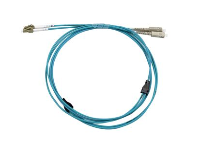 Picture of DYNAMIX 15M LC/SC OM3 Armoured Fibre Lead (Duplex, Multimode)
