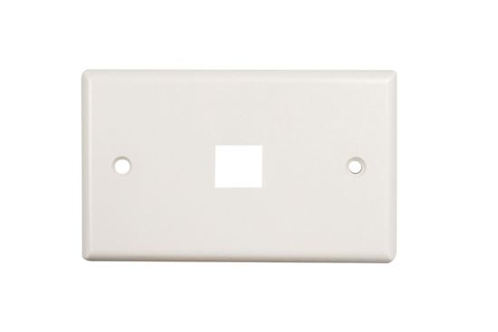 Picture of DYNAMIX Single Port Face Plate for 110/Keystone Jacks.