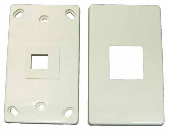 Picture of DYNAMIX Single Port RJ45 Keystone Face Plate - 2x piece. Horizontal