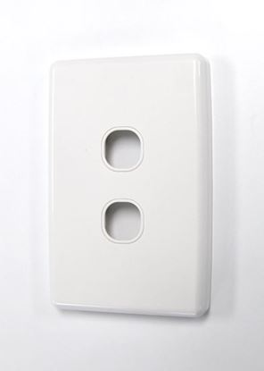Picture of AMDEX Switch Plate ONLY. 2 Gang WPC Series Wall Face Full Cover