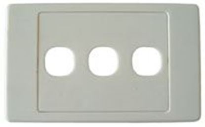 Picture of AMDEX Triple Port RJ45 Face Plates AMDEX style.