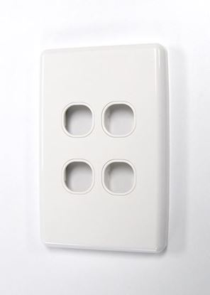 Picture of AMDEX Switch Plate ONLY. 4 Gang WPC Series Wall Face Full Cover