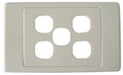 Picture of AMDEX Switch Plate ONLY. 5 Gang Wall Face Cover Plate. (Accepts