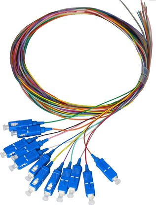 Picture of DYNAMIX 2M SC Pigtail OM1 12x Pack Colour Coded, 900um Multimode