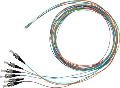 Picture of DYNAMIX 2M ST Pigtail OM1 6x Pack Colour Coded, 900um Multimode