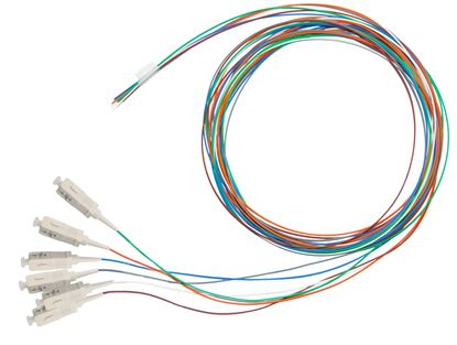 Picture of DYNAMIX 2M SC Pigtail OM3 6x Pack Colour Coded, 900um Multimode