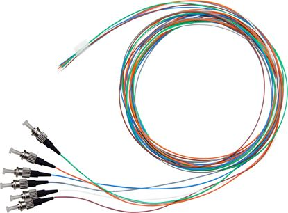 Picture of DYNAMIX 2M ST Pigtail OM3 6x Pack Colour Coded, 900um Multimode
