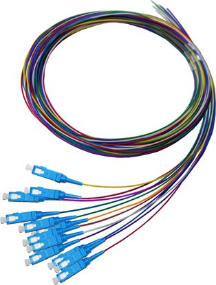 Picture of DYNAMIX 2M SC Pigtail G657A1 12 Pk Colour Coded, 900um Single-mode