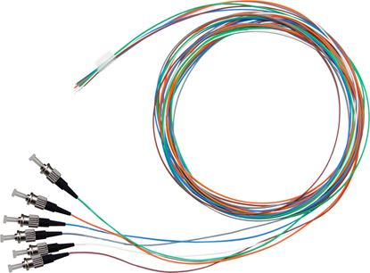 Picture of DYNAMIX 2M ST Pigtail G657A1 6 Pk Colour Coded, 900um Single-mode