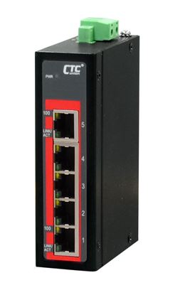 Picture of CTC UNION 5 Port Fast Ethernet Unmanaged Switch.  -40C~+75C.