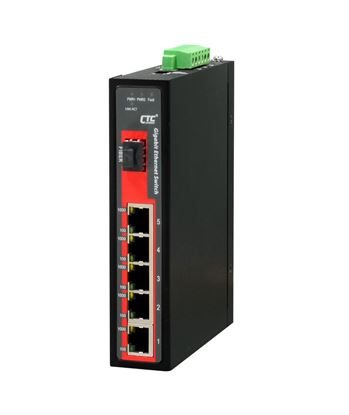 Picture of CTC UNION 5 Port Gigabit + 1x SFP Unmanaged Switch. -10C~ 60C.