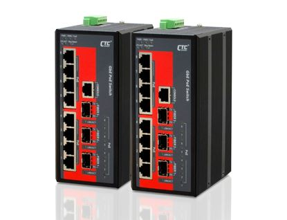 Picture of CTC UNION 8 Port Gigabit Managed PoE Switch. -10C ~60C.
