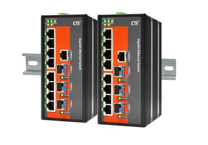 Picture of CTC UNION 8 Port Gigabit Managed Switch.  -40C~75C.