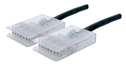 Picture of DYNAMIX 1m 4x Pair 110/110 Cat5e Patch Lead: Default Black, A spec